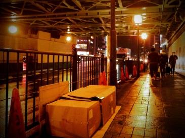 Shinjuku: A homeless coffin.