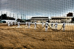 Higashi High Baseball Team And Contaminated Field