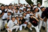 Koriyama: Higashi High baseball team.
